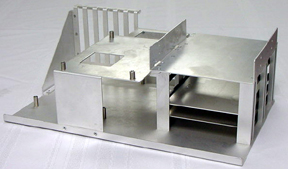 This is the the interior of a computer chassis.